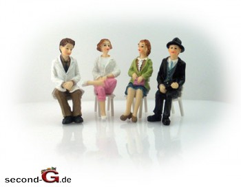 Massoth 9200002 - Faeber Handbemalte Figuren Spur G 2 Damen, 2 Herren, sitzend