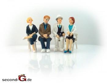 Massoth 9200005 - Faeber Handbemalte Figuren Spur G 2 Damen, 2 Herren, sitzend