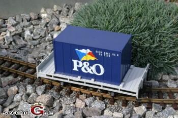 LGB 4103 - P&O Containerwagen Metallräder neuwertig OVP