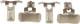 Massoth 8313104 - Schienenschleifkontakte für LGB® Lokomotiven